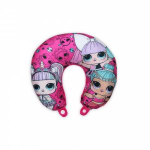 LOL Baba utazópárna kislányoknak – nyakpárna – pink