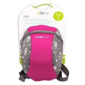 Bölcsis hátizsák pórázzal, Pink | BBlüv