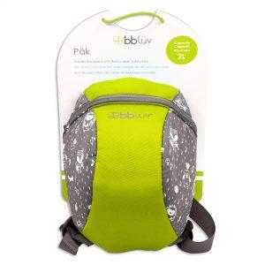 Bölcsis hátizsák pórázzal, Lime | BBlüv