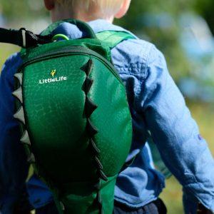 LittleLife gyerek hátizsák pórázzal – krokodil