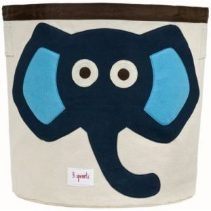 Játéktároló, kék elefánt | 3 Sprouts