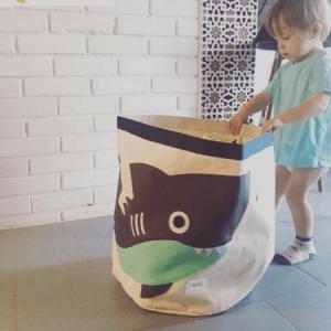 Játéktároló, cápa | 3 Sprouts