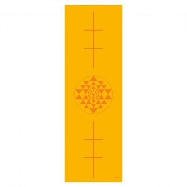Leela jógaszőnyeg – BODHI – SÁRGA - YANTRA